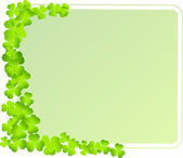Green frame with clover leaves — Stock Vector