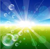 Bubbles in the sky — Stockvektor