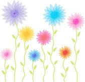 Fond transparent de fleurs — Vecteur