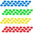 Royalty-Free Stock Vector Image: Colorful umbrellas