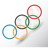 Olympic rings the globe — Stock Vector