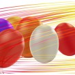 Dyed Easter eggs - Stock Vector