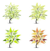 Tree with leaves — Stock Vector