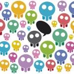 Manifestation of skulls — Stock Vector #8782608