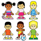 Group of kids — Stock Vector