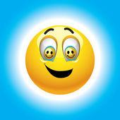 Bola sonriente — Vector de stock