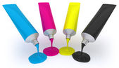 Color tubes CMYK — Stock Photo