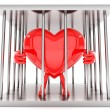 Heart mascot — Stock Photo #8935977