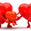 Heart mascot - Stock Photo