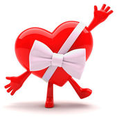 Heart mascot — Stock Photo