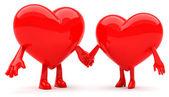 Mascote do coração — Foto Stock