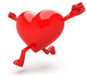 Heart mascot — Stock Photo