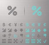 Iconos de informática e internet — Vector de stock