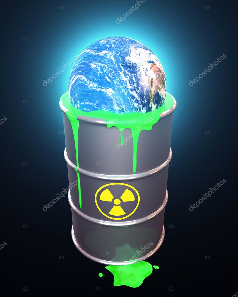Planet Earth in radioactive waste — Stock Photo #8967354