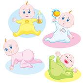 Babies — Stock Vector