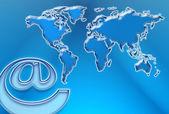 Web and World Map — Stock Photo