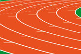 Athletics track — Stock Photo
