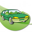 Hybrid Car — Stock Vector