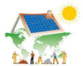 Solar energy — Stock Vector