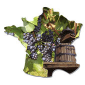 Wine map of France — Stock Photo