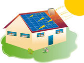 Solar house — Stock Photo