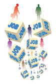 Unemployment and jobs — Stock Vector