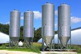Silot for storing grain — Stock Photo