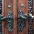 Ancient door handles — Stock Photo