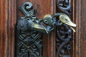 Ancient door handles — Stock fotografie