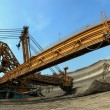 Coal digger in action — Stock Photo