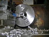 Wheel lathe — Stock Photo