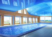 Pool inside the house — Stock Photo