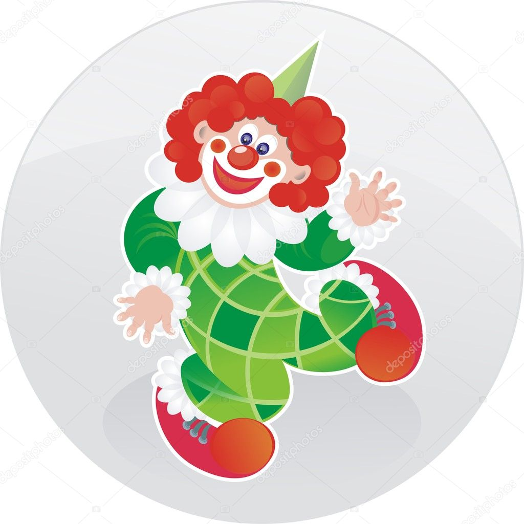 Cute illustration of dancing clown — Stock Photo #9029917