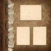 Vintage background, page family album — Stock Photo