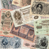 Old russian money background — Stock Photo