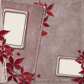 Vintage paper background with frame — Stock fotografie