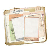 Old archive with letters, photos — Stock Photo