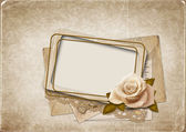 Old frame on vintage background — Стоковое фото