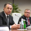 Vitaly Mutko and Andrey Kostin — Stock Photo