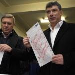 Постер, плакат: Mikhail Kasyanov and Boris Nemtsov