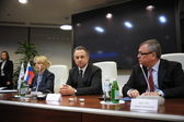 Lyudmila Puchkova, Vitaly Mutko and Andrey Kostin — Stock Photo