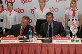 Vladimir yakunin y andrey bokarev — Foto de Stock