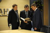 Stanislav Kuznetsov, Andrey Artizov and German Gref — Stock Photo