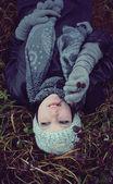 Podzimní portrét ženy — Stock fotografie