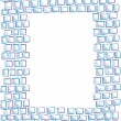 Hand-drawn mosaic frame — Stock Vector