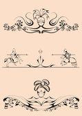 Dekorativní děliče klání — Stock vektor