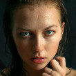 Portrait of wet woman — Stock Photo