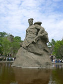 Monument Stay to Death in Mamaev Kurgan, Volgograd, Russia — Stock Photo