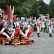 "Folklore dancing group ""Mosaic"". — Stock Photo #9536243"