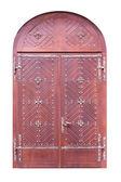 Wooden door isolated — Stock Photo